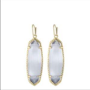 Kendra Scott Layla slate cats eye earrings.